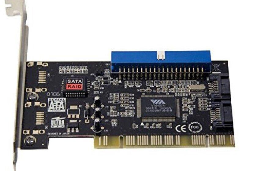 SYBA SD-VIA-1A2S Combo IDE + SATA PCI Controller Card