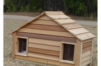 Wood Chuck's All Natural Cedar Dog Duplex House for Small Dogs