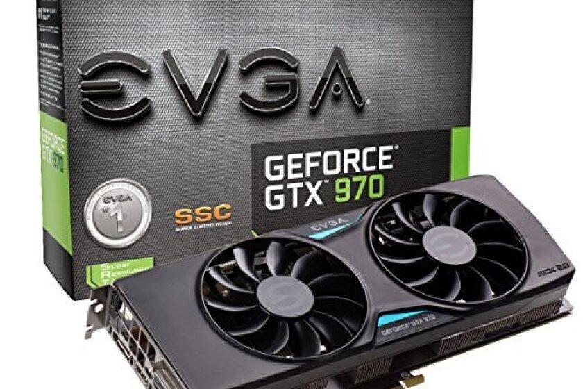 EVGA GeForce GTX 970 SSC ACX 2.0+ 4GB GDDR5 256bit, DVI-I, DVI-D, HDMI, DP SLI Ready Graphics Card