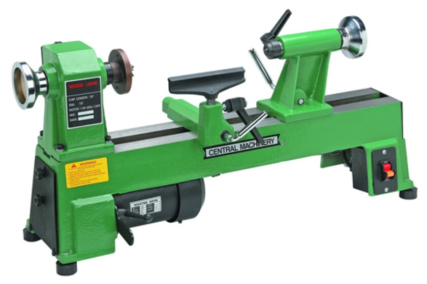 Central Machinery 65345 5-Speed Bench Top Wood Lathe