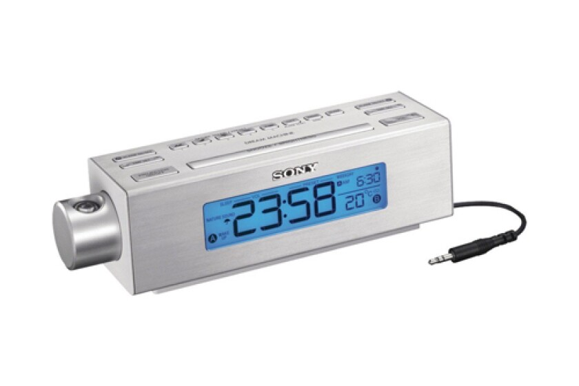 Sony ICF-C717PJ Nature Sounds Projection Dual Alarm Clock Radio