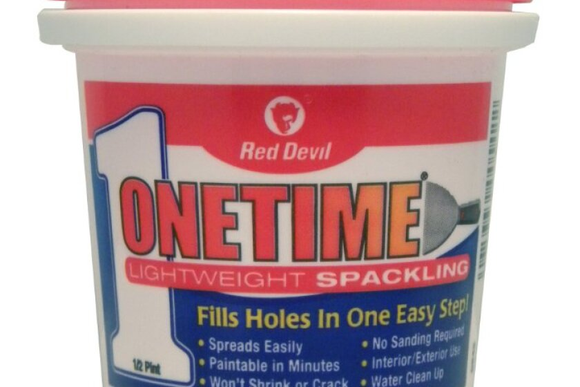 Red Devil Onetime Lightweight Spackling