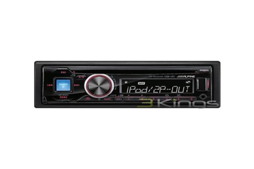 Alpine CDE-141 CD/MP3 Car Stereo Receiver with Front Aux Input and USB