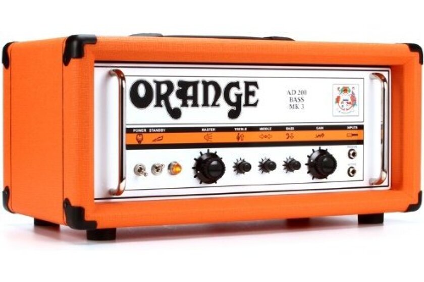 Orange AD200B MK 3 200-Watt Bass Head Orange