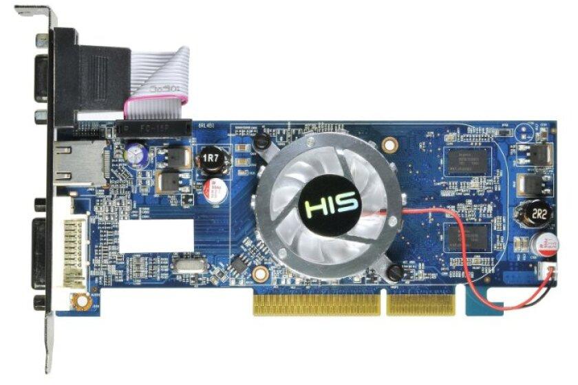 HIS H435F512HA Radeon HD 4350 512MB AGP 8X/4X Video Card
