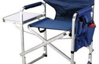 Ming's Mark SL1204-BLUE Blue Full Back Folding Director's Chair