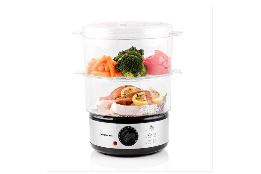 best Ovente Triple-Tiered Electric Food Steamer
