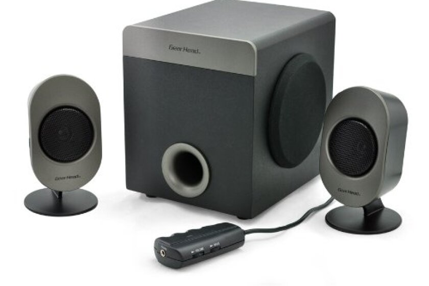 Gear Head Powered 2.1 Studio Pro Speakers (SP3750ACB)