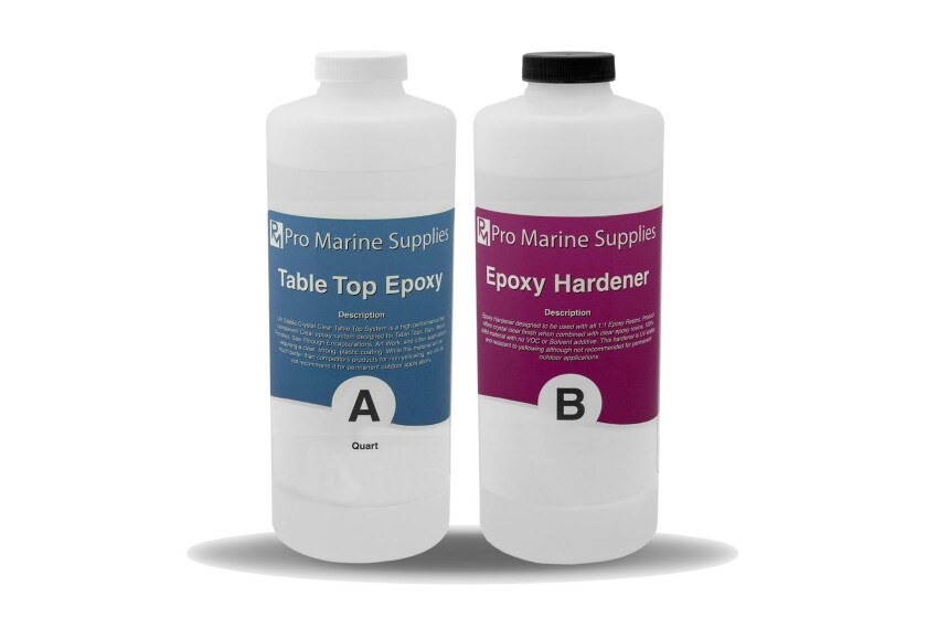 Pro Marine Supplies, Epoxy Resin Clear Coating for Tabletops