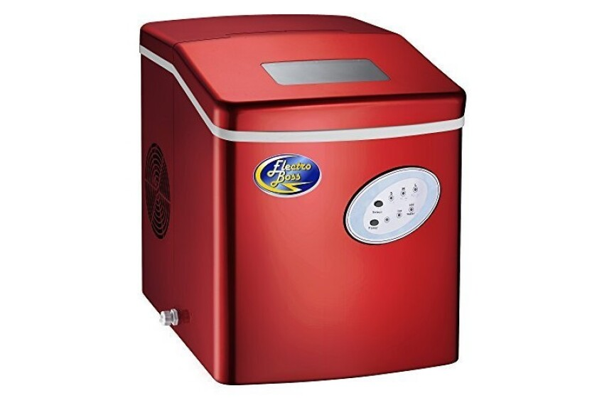 best Ice Boss Red Portable Ice Maker Machine High Output Ice Maker