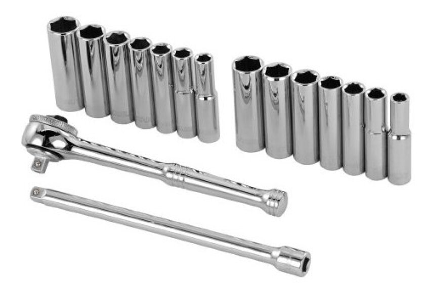 Stanley 89-199 16 Piece 1/4-Inch Drive 6-Point Socket Set