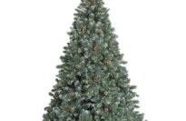 GKI/Bethlehem Lighting 7-1/2' Pre-Lit Glacier Christmas Tree with Pinecones