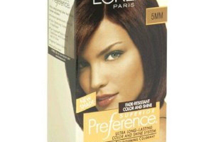 欧莱雅高级偏好头发颜色