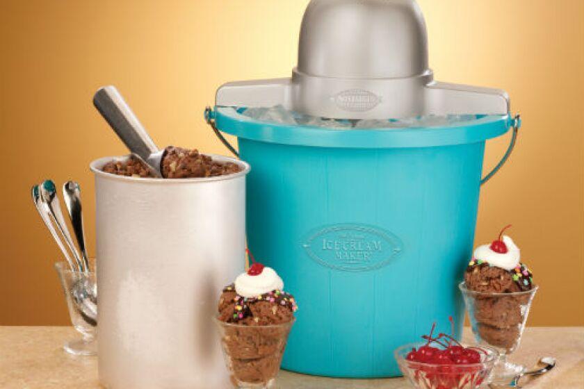 Nostalgia Electrics ICMP-400BLUE 4 Quart Ice Cream Maker