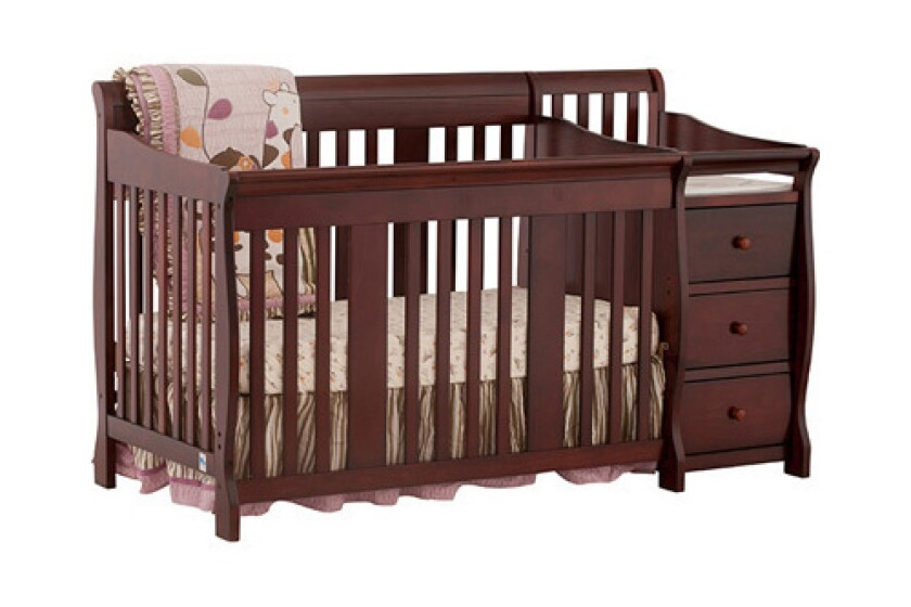 Stork Craft Portofino 4 in 1 Fixed Side Convertible Crib Changer