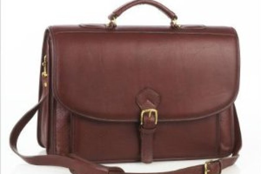 Aston Leather Oversized Briefcase 215BC