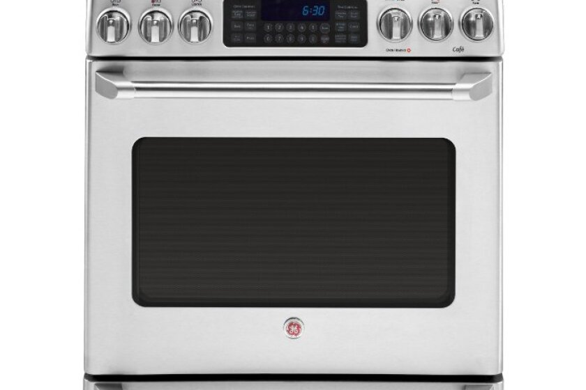 "General Electric Cafe 30"" Stainless Steel Electric Range - CS980STSS"