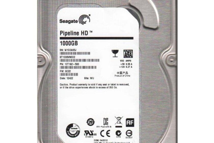 "Seagate Pipeline HD ST1000VM002 1TB 5900 RPM 64MB Cache SATA 3.0Gb/s 3.5"" Internal Hard Drive"