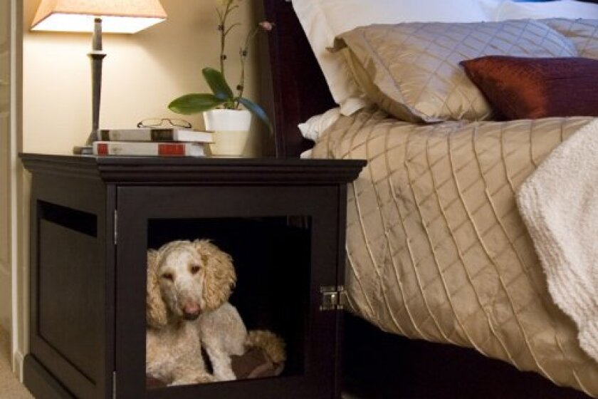 DenHaus TownHaus Hideaway Dog House with Nightstand End Table