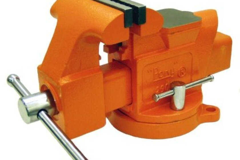 Pony 29040 4-Inch Heavy-Duty Workshop Bench Vise with Swivel Base