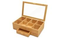 best Signature Living Bamboo Tea Box Storage