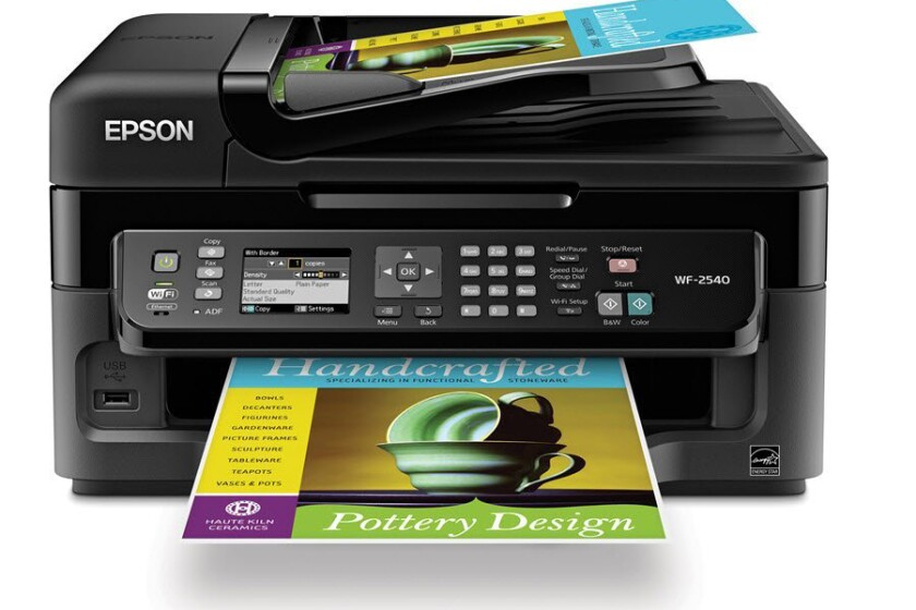 Epson WorkForce WF-2540 Wireless All-in-One Color Inkjet Printer, Copier, Scanner ADF, Fax