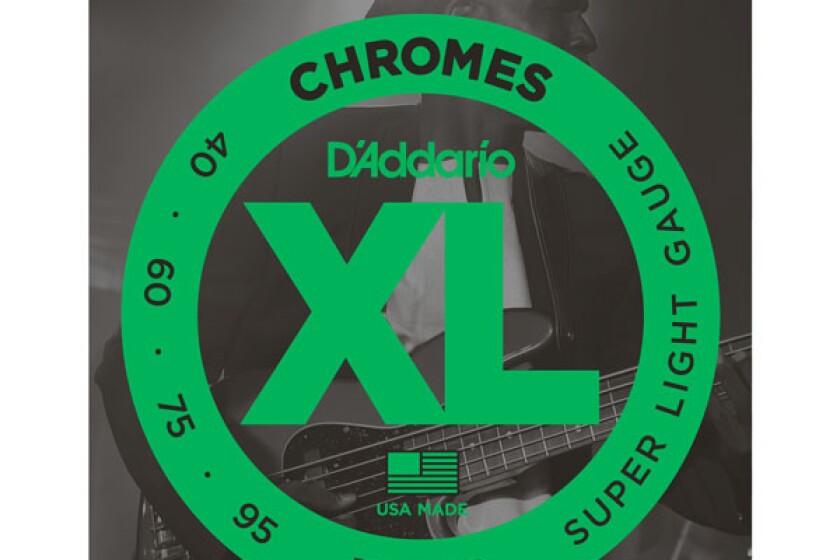 D'Addario ECB80 Chromes Flat Wound Super Light Electric Bass Strings
