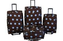 best American Flyer Grande Dots 4-Piece Luggage Set