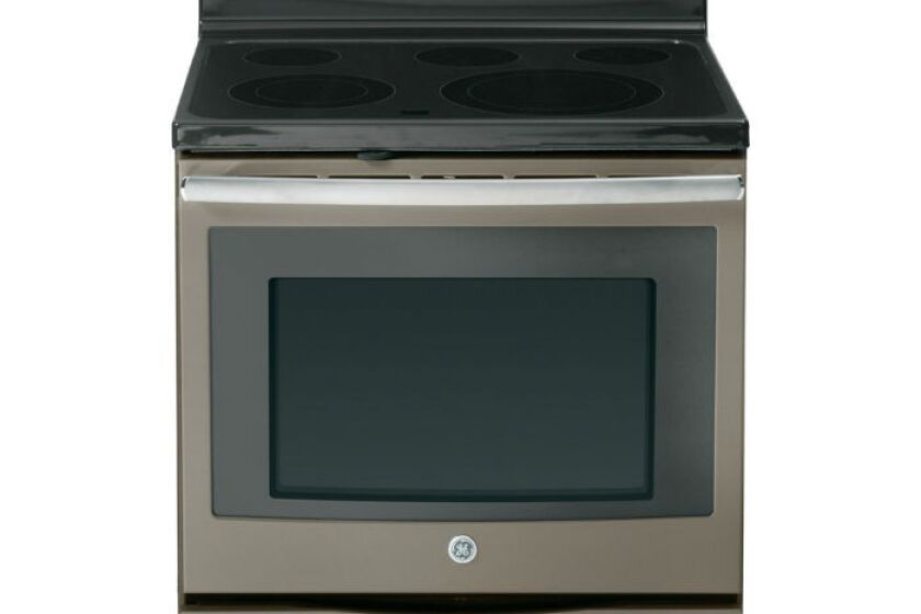 "GE 30"" Slate Electric Smoothtop Convection Range - JB690EFES"