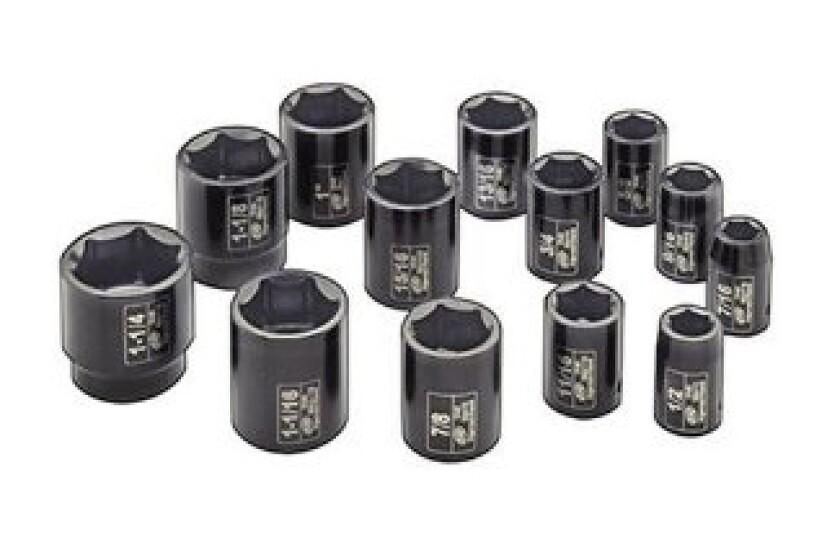 Ingersoll Rand SK4H13 1/2-Inch Drive 13-Piece SAE Standard Impact Socket Set