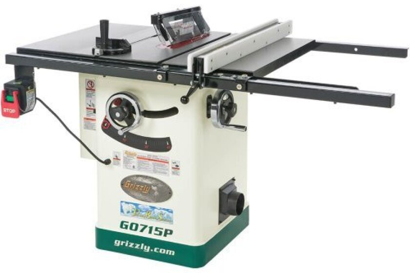 """Grizzly G0715P Polar Bear Series 10"""" Hybrid Table Saw with Riving Knife"""