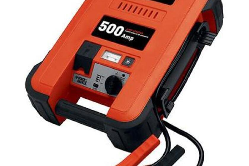 Black & Decker JUS500IB 500 Amp Jump Starter with Inflator
