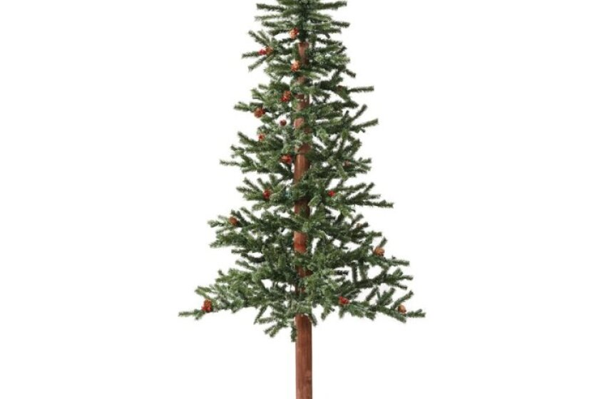 Vickerman Frosted Alpine Berry Unlit Christmas Tree