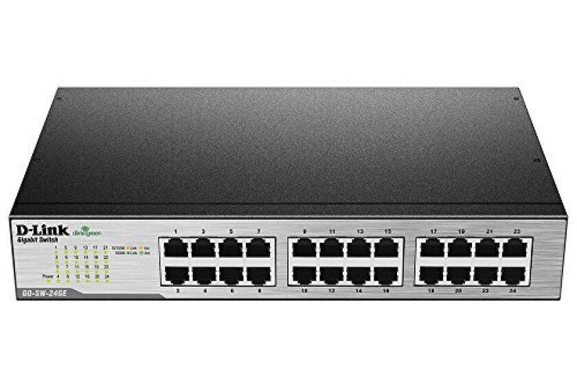 D-Link 24-Port Gigabit Unmanaged Metal Desktop or Rackmount Switch (GO-SW-24GE)