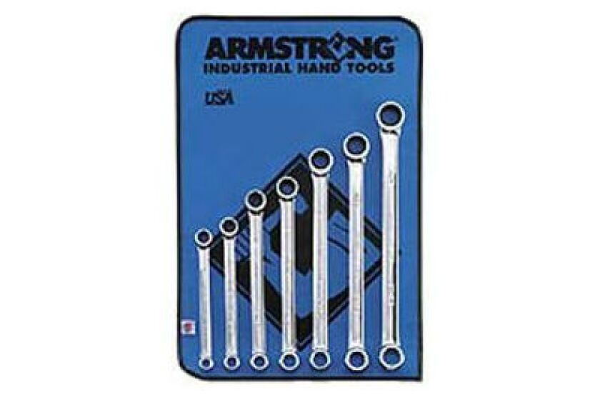 Armstrong 27-609 7pc 12pt Full Polish Geared Box Wrench Set