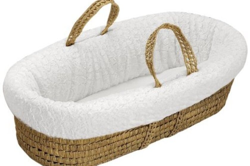 Baby Doll Bedding Sheepskin Moses Basket