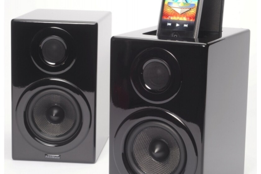 Aktimate Micro Black 2-way Active Speaker System with iPod Dock