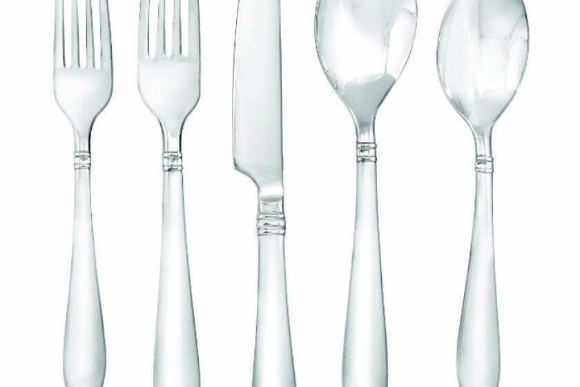 Faberware Annatto Sating 45-Piece Flatware Set