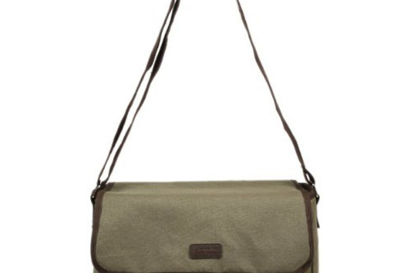 Sachi 195-172 Insulated Canvas Messenger Lunch Tote