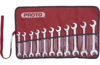 Proto 11 Piece Full Polish Metric Angle Open-End Wrench Set