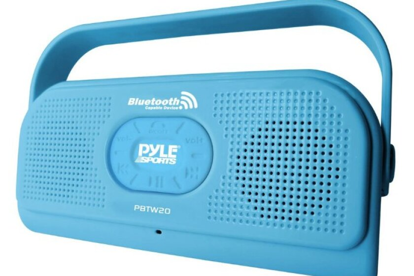 Pyle PBTW20BL Surf Sound 2-In-1 Waterproof Bluetooth Shower Speaker