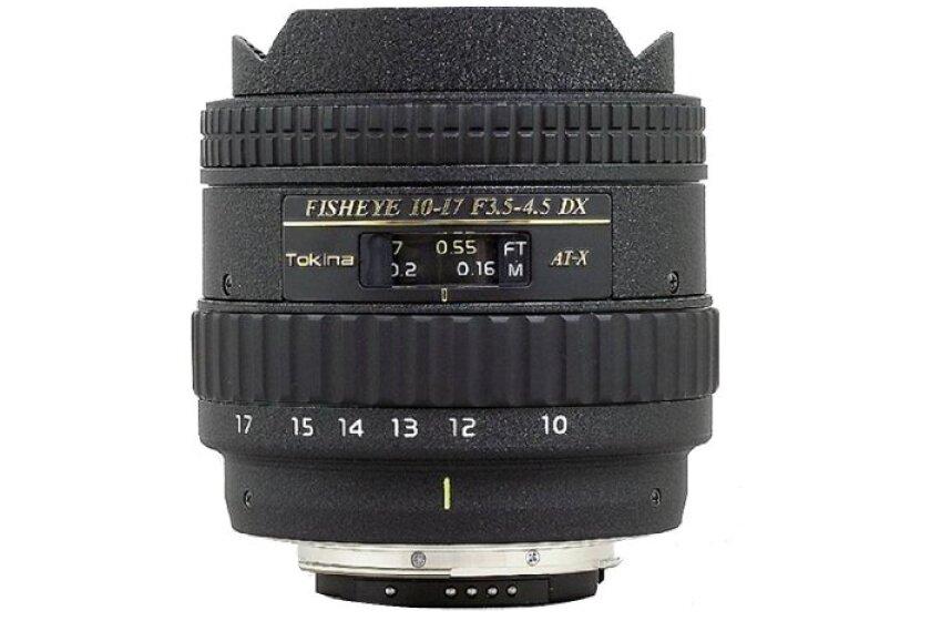 Tokina AF 10-17mm f3.5-4.5 AT-X DX Fisheye Lens for Canon