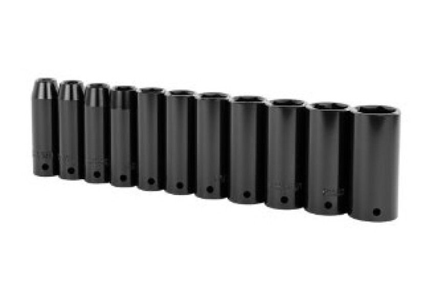 Stanley 97-125 11 Piece 1/2-Inch Drive SAE Deep Impact Socket Set