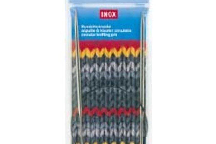 Inox Nickel-Plated Knitting Needles