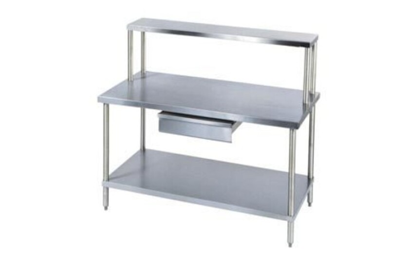 """best Aero Manufacturing 72"""" x 30"""" Stainless and Galvanized Steel Workbench"""