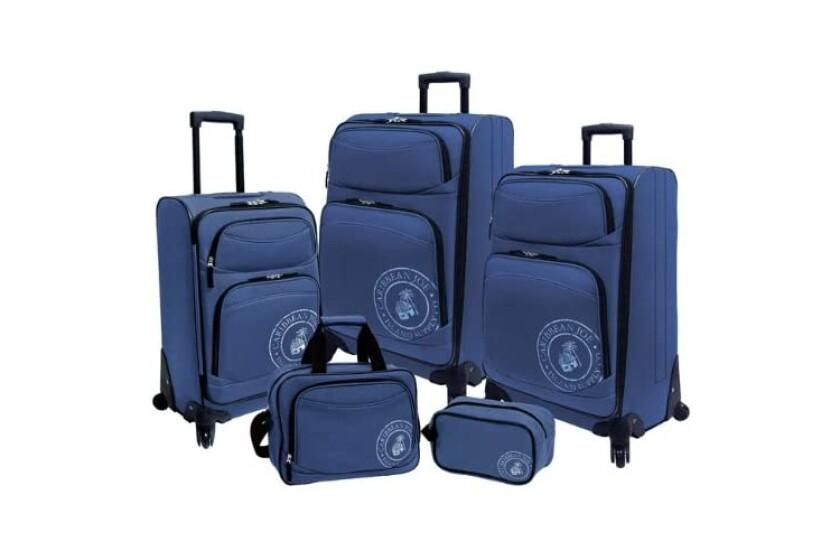 best Caribbean Joe Coral Reef 5-Piece Luggage Set