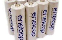 Sanyo Eneloop NIMH Rechargeable AA Batteries