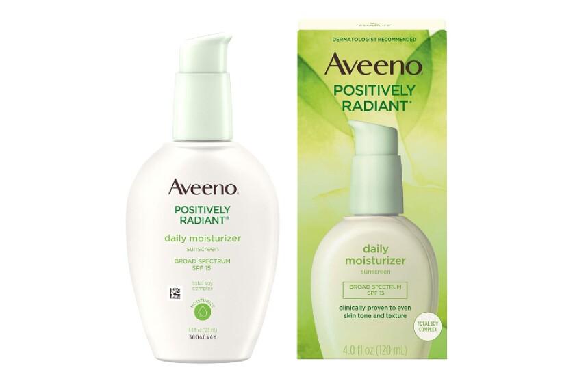 best Aveeno Positively Radiant Daily Moisturizer Broad Spectrum SPF 15