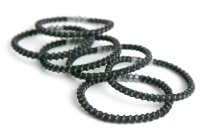 Goody Slide-Proof Black Elastics