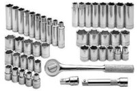 SK 4147-6 47 Piece 1/2-Inch Drive 6 Point Standard and Metric Socket Super Set